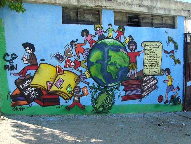 Murales del cambio hacia un l bano m s tolerante for Murales de fotos para pared